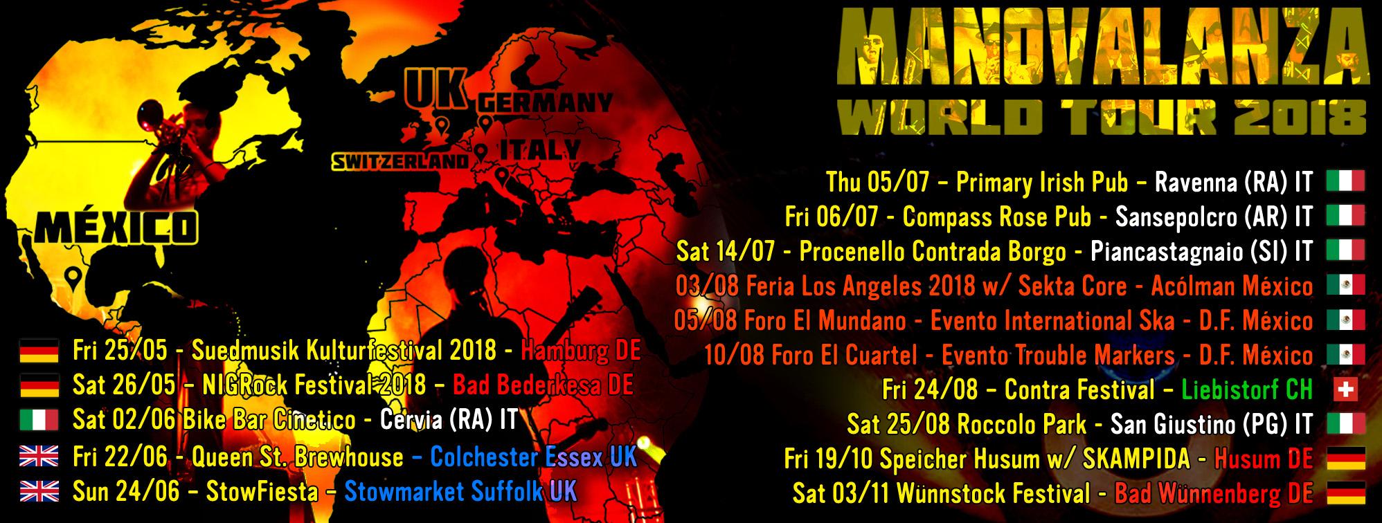 Manovalanza dates 2018